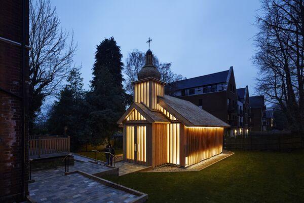 Здание белорусской часовни в Лондоне, победившее в категории Religion Completed Buildings на Всемирном фестивале архитектуры