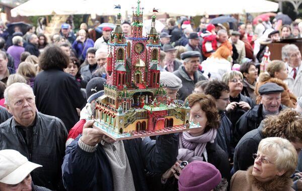 Вертеп на рождественской ярмарке в Кракове