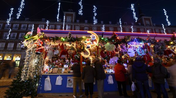 Рождественская ярмарка в Мадриде, Испания