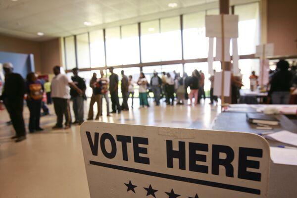 Избирательный участок в Новом Орлеане