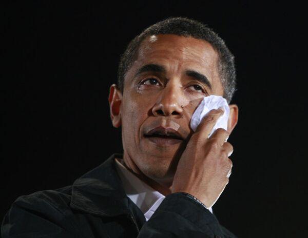 Барка Обама во время предвыборной кампании
