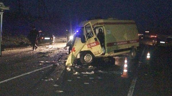 ДТП с участием автомобиля скорой помощи в Краснодарском крае