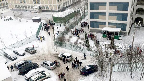 Эвакуация в московской школе № 1359