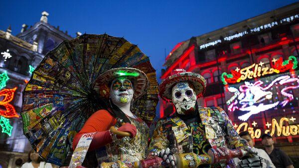 На новогодней площади в Мехико