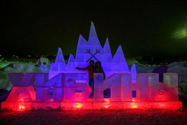 Ледовый город Гиперборея в Хибинах и Снежная деревня в Мурманской области