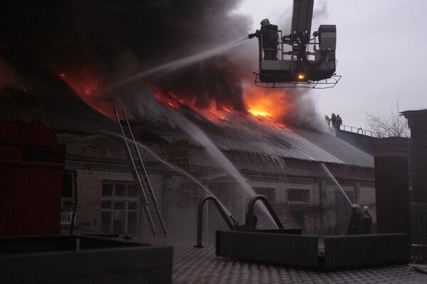 Пожар на рынке Каширский двор
