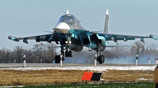 Опубликованы кадры командирских вылетов на Су-34
