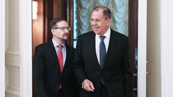Встреча главы МИД РФ С. Лаврова с Генсекретарем ОБСЕ Т. Гремингером