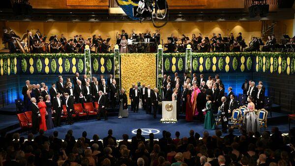 Церемония вручения Нобелевской премии в Стокгольме, Швеция. 10 декабря 2018