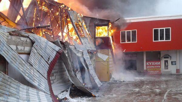 Пожар на складе в Щелковском районе. 11 декабря 2018