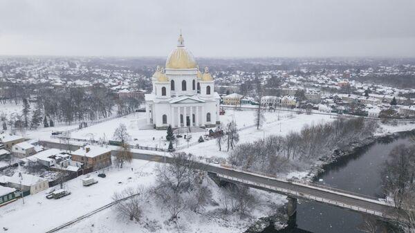Троицкий собор на реке Цна в городе Моршанск на севере Тамбовской области