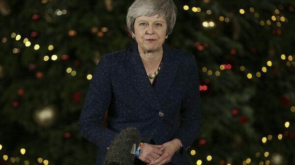 Премьер-министр Великобритании Тереза Мэй на Даунинг-стрит в Лондоне