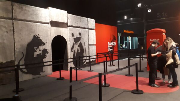 Выставка работ Бэнкси в Мадриде. 13 декабря 2018