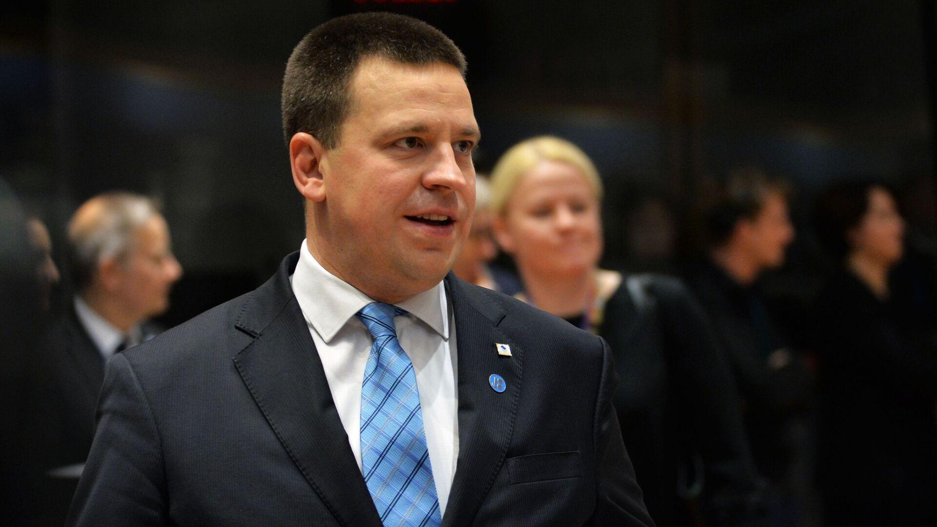 Премьер-министр Эстонии Юри Ратас на саммите ЕС в Брюсселе. 14 декабря 2018 - РИА Новости, 1920, 13.01.2021