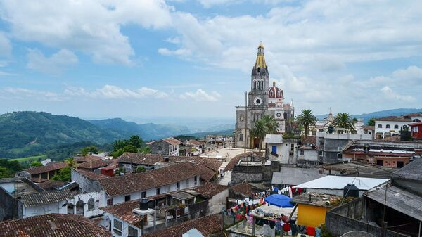 Сьюдад-де-Куэцалан в штате Пуэбла, в Мексике