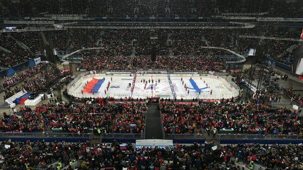 Старт матча между сборными командами России и Финляндии
