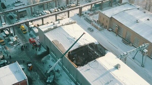 Обрушение кровли производственного здания в подмосковном Дзержинском. 17 декабря 2018