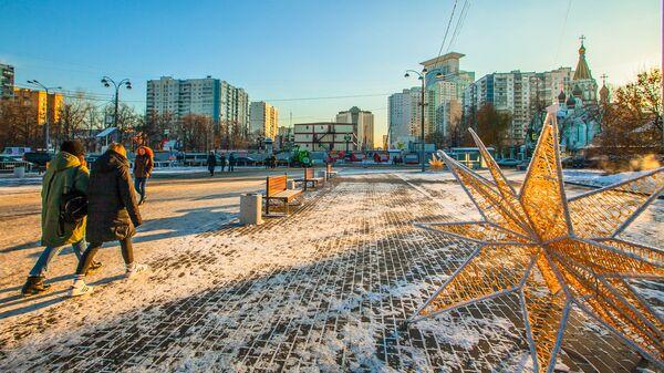 Площадь перед парком Сокольники