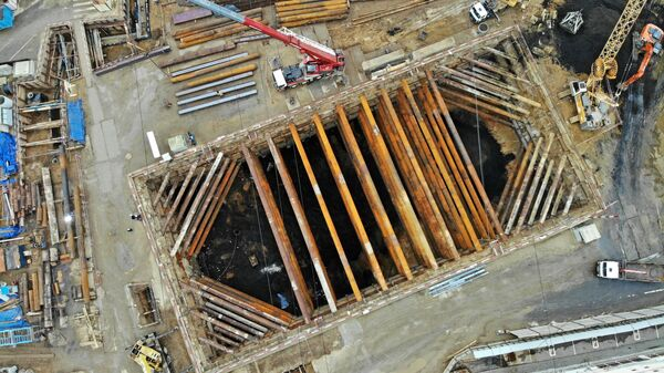 Строительство станции Стромынка