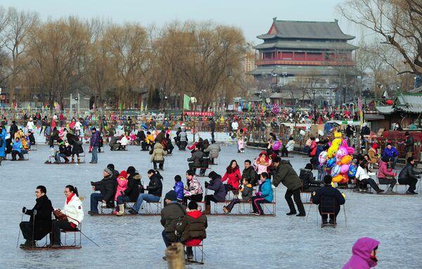 Каток в Пекине