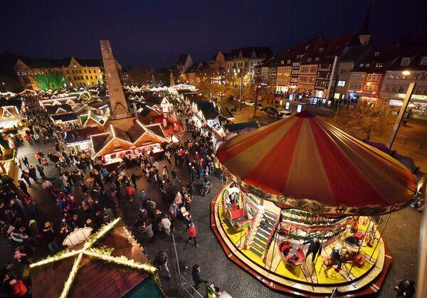 Рождественская ярмарка в Эрфурте
