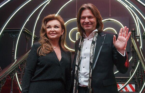 Певец, композитор, продюсер Дмитрий Маликов с супругой Еленой