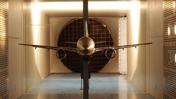 Испытание модели ближне-среднемагистрального самолета МС-21 в трансзвуковой аэродинамической трубе ЦАГИ