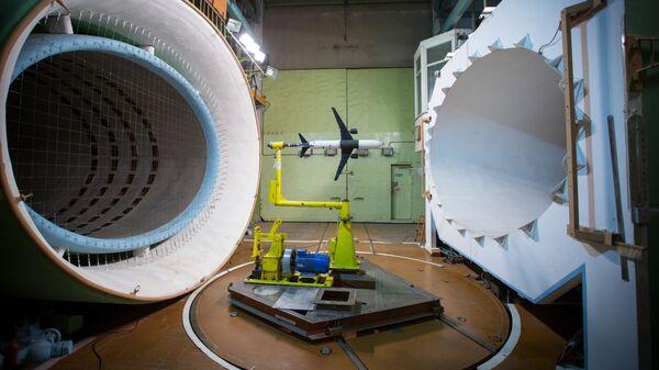 Отработка систем управления гражданского самолета в дозвуковой аэродинамической трубе ЦАГИ