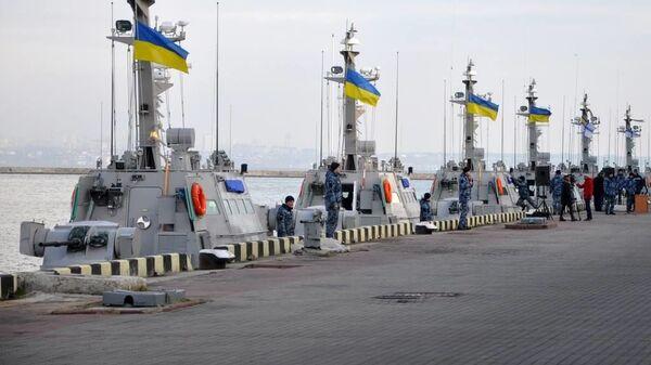 Катера ВМС Украины в порту Одессы