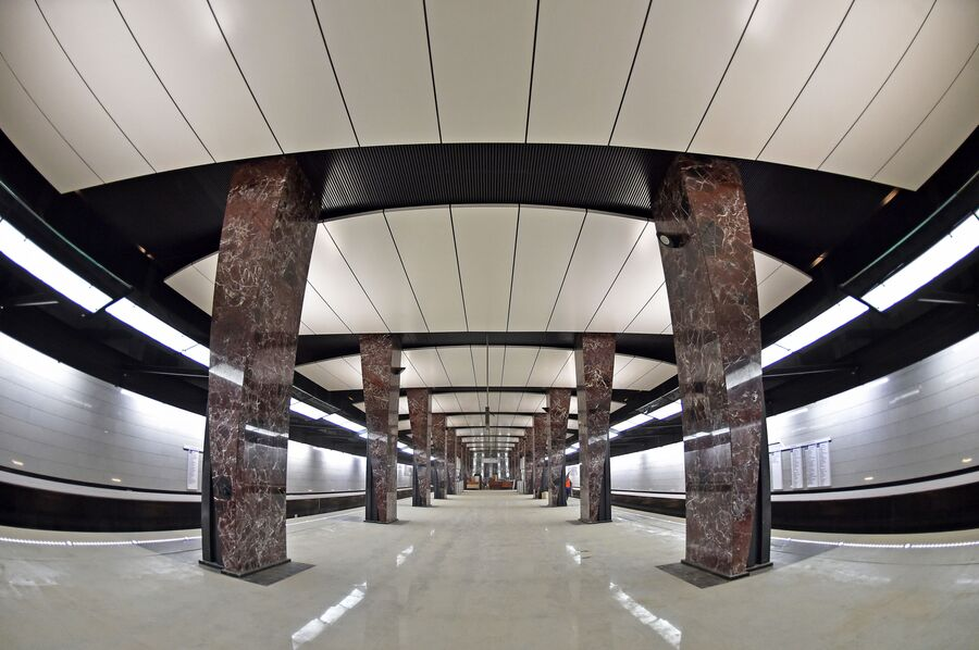 Платформа станции Хорошёвская Большой кольцевой линии Московского метрополитена
