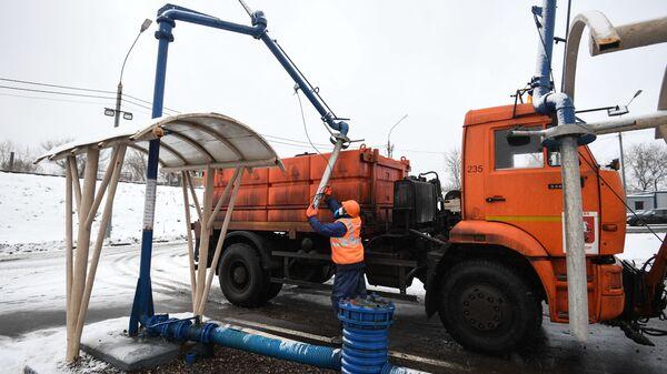 Подготовка машины для использования жидких противогололедных материалов