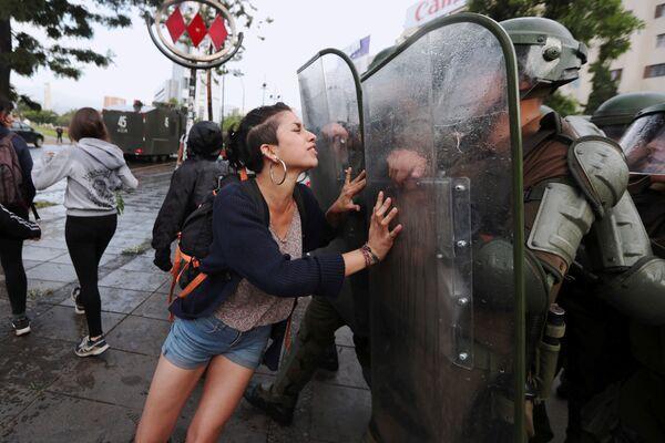 Акция протеста в Сантьяго