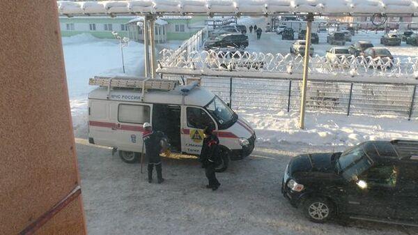 Автомобиль МЧС на шахте в Соликамске