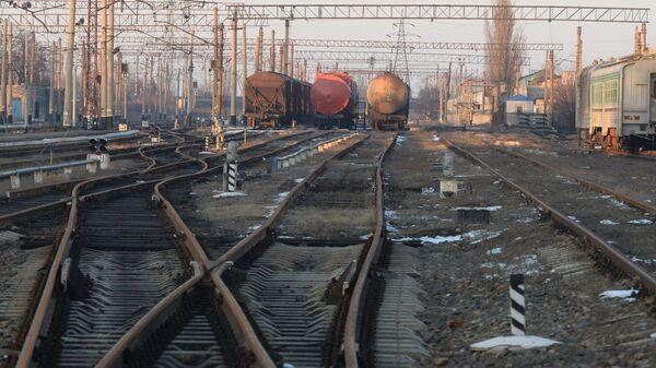 Железнодорожная станция в Донецкой области