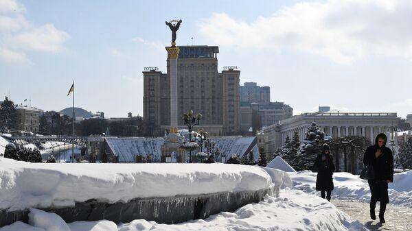 Вид площади Независимости в Киеве