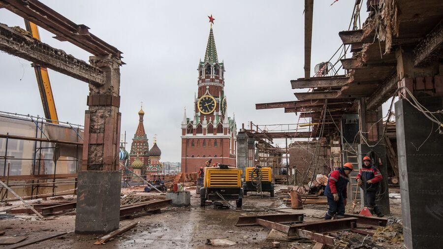 Снос 14-го корпуса Московского Кремля