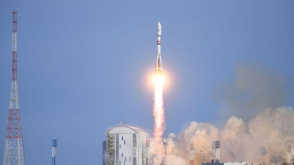 Старт ракеты-носителя Союз-2.1а с космическими аппаратами дистанционного зондирования Земли «Канопус-В» № 5 и № 6 с космодрома Восточный. 27 декабря 2018
