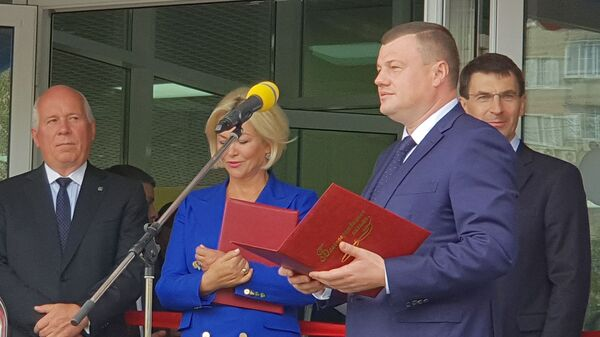 Церемония открытия перинатального центра в Тамбове