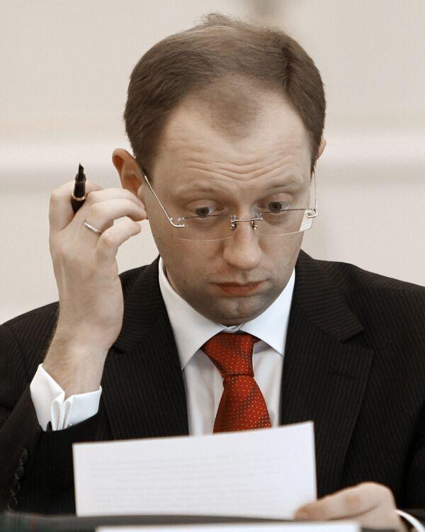 Председатель Верховной Рады Арсений Яценюк