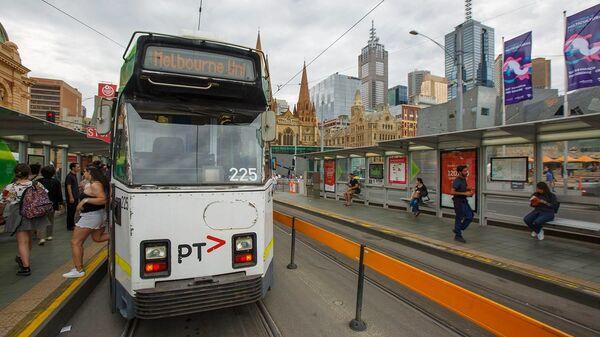 Австралия. Мельбурн. Старый трамвай в городе