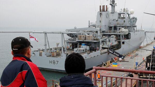 Корабль британского флота HMS Echo в черноморском порту Одесса. 21 декабря 2018
