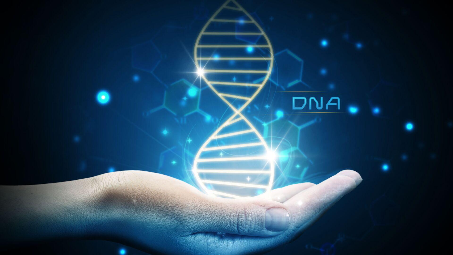 Молекула ДНК на ладони - РИА Новости, 1920, 29.01.2020