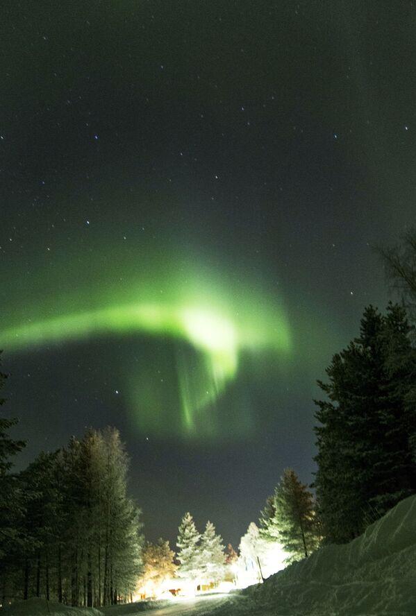 Полярное сияние (Северное сияние) в Финляндии