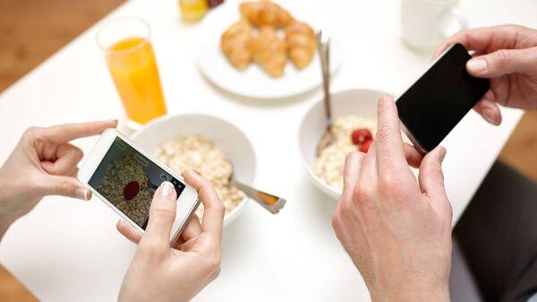 Фотографирование еды на телефон