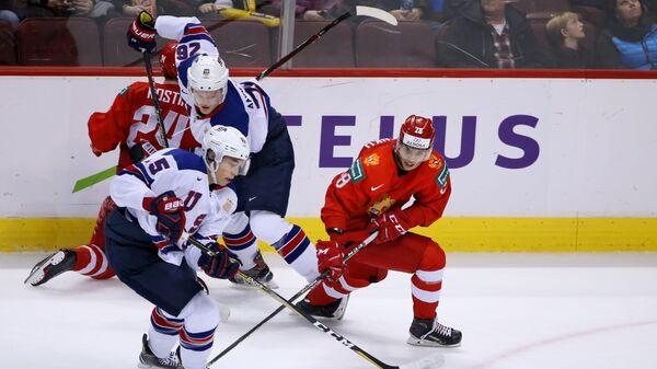 Хоккей. Молодежный чемпионат мира. Матч Россия - США