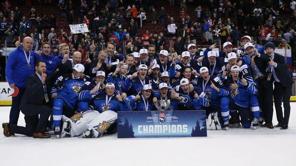 Игроки и тренеры сборной Финляндии