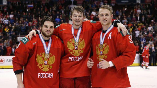 Савелий Ольшанский, Александр Алексеев и Дмитрий Саморуков (слева направо)