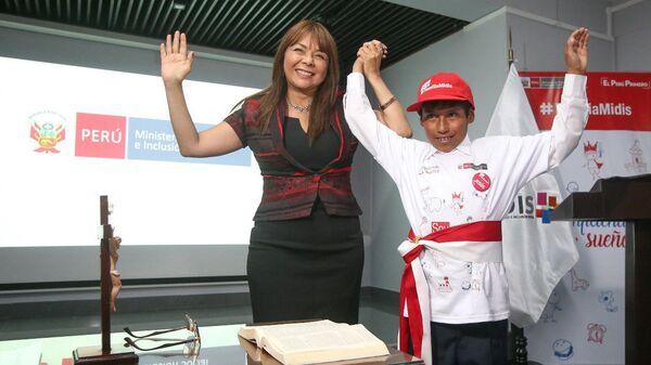 Двенадцатилетний мальчик Хесус Мамани Рамос стал на один день министром развития и социальной интеграции Перу