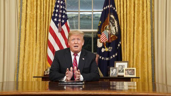 Президент США Дональд Трамп выступил со специальным телеобращением к американцам, посвященном шатдауну