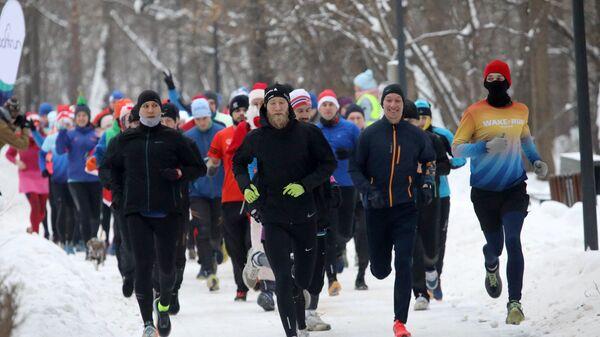 Утренний новогодний забег в парке Кузьминки. 1 января 2019